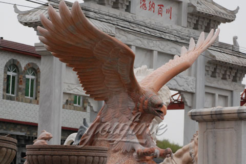 High Quality Marble Eagle Statue with Wings