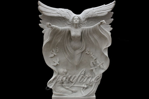 High Quality White Marble Angel Girl Statues