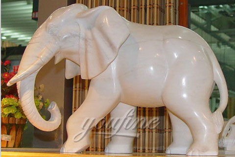 Hot sale natural marble polishing elephant statues