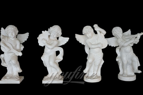 Natural Garden White Stone Little Angel Boys