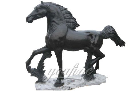 Outdoor Animal Statue For Exhibition Marble Horse