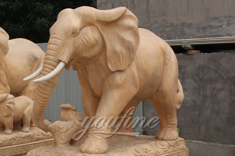 Outdoor Garden Stone Life size Elephant Statues
