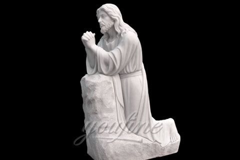 Religious Sacred Heart White Marble Christ Jesus Statues for sale