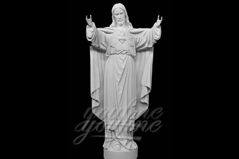 Sacred Heart white marble high quality statue of Jesus