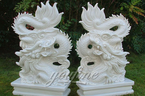 Stone Carving China Dragon Sculptures Garden Stone