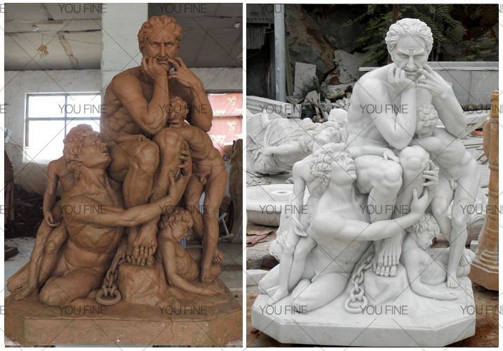Ugolino and His Sons statue