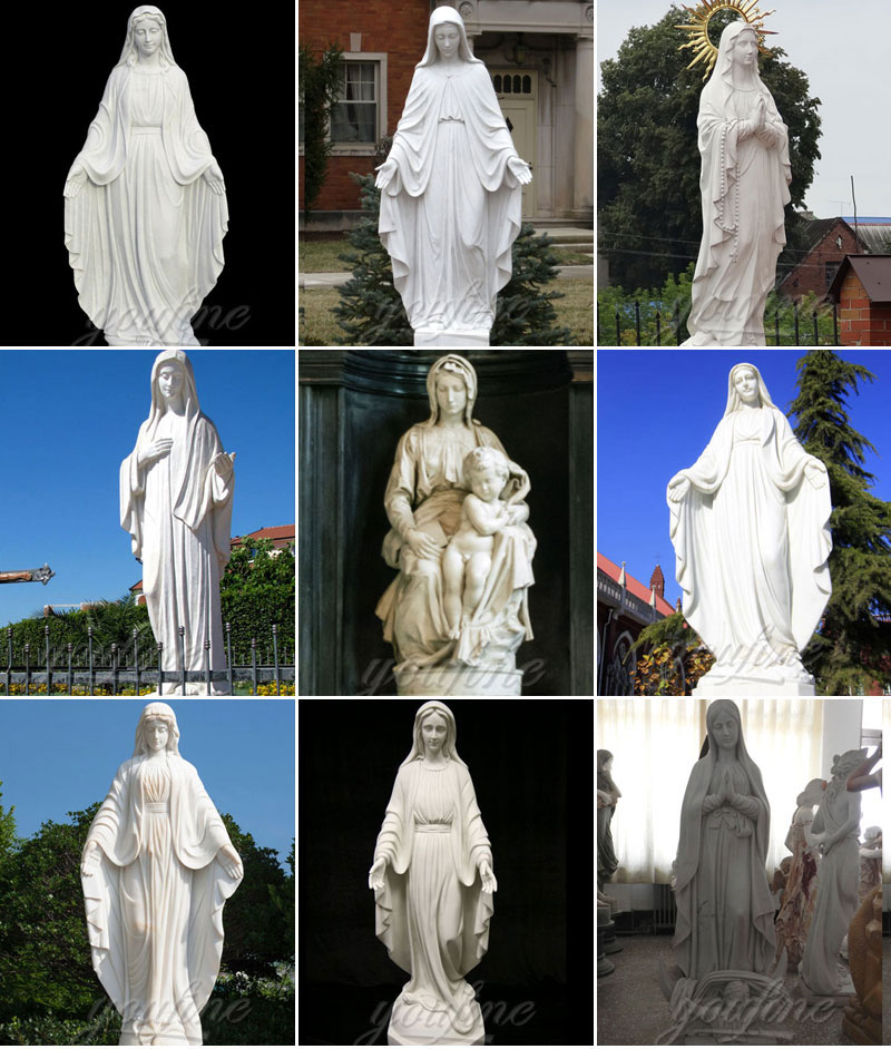 Virgin Mary Marble Statues