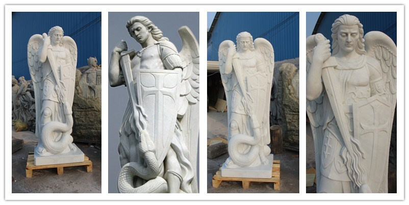 Famous High Quality Carved Marble Arcangel Statue