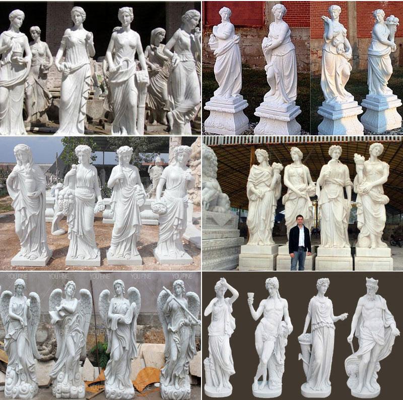 life size four season lady statues