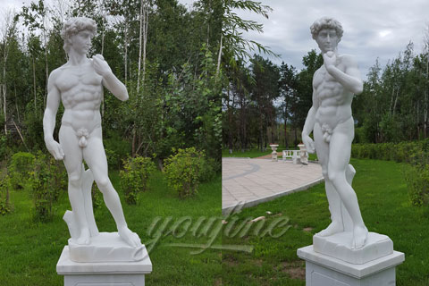 world famous stone carving sculpture life-size marble David pierre statue