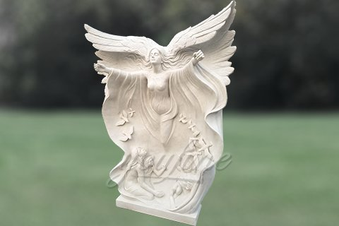 Full Size Outdoor Famous Marble Angle Statues