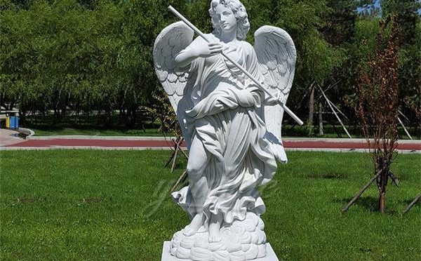 Large life size outdoor marble Sant'Angelo sculpture for decor